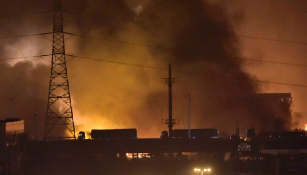 The blasts damaged a large part of the world's 10th largest port