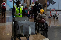 File photo of travellers at Kotoka International Airport