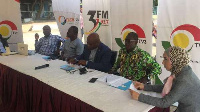 Lecturer, UPSA Charles Nii Ayiku(middle) on a panel at the International Press Freedom Day