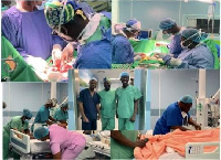 The team that performed the surgery at Korle Bu