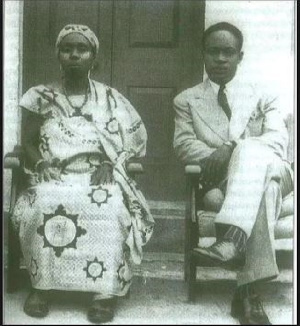 Dr Kwame Nkrumah with his mother