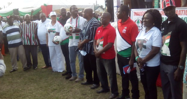 Members of the NDC campaign team in the Central region