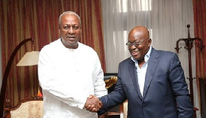 Former President John Dramani Mahama and President Akufo-Addo