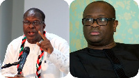 Alban Bagbin [L] has been very critical of Mr. Dogbe(R)