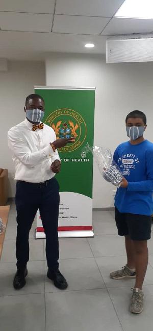 Rudra Raj Singh and deputy health minister Dr Oko-Boye