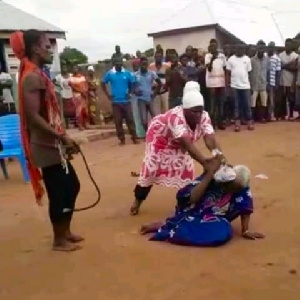 Madam Akua Denteh was beaten to death in public for allegedly being a witch
