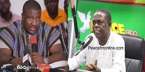 NPP Youth Organiser Nana B and  Renowned journalist, Kwesi Pratt