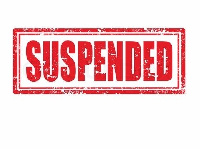 The suspension takes effect from April 7, 2017 for three months