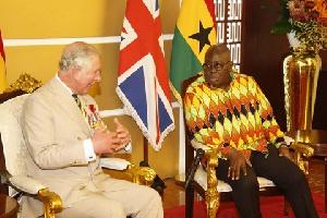 Prince Charles with President Nana Akufo-Addo