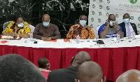 NHIA Board Chair, Professor Adu-Gyamfi with some members of the Board