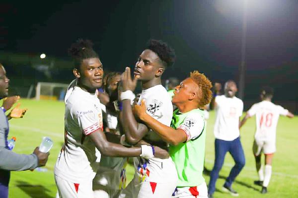 Caleb Amankwah's free-kick helps Hearts beat Sharks to earn semi-final spot
