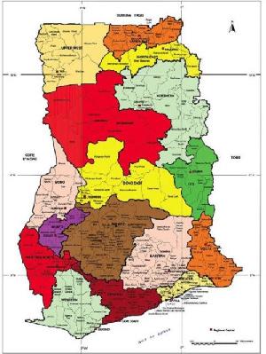 New Ghana Map