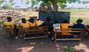 School under trees