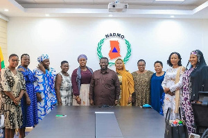 Director-General of NADMO, Mr. Eric Nana Agyemang Prempeh with the regional women organizers