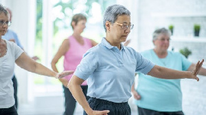 The ancient art of Tai Chi combines deep breathing and relaxation with gentle movements