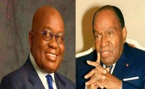 President Nana Addo Dankwa Akufo-Addo and the late Ivorian president Félix Houphouët-Boigny