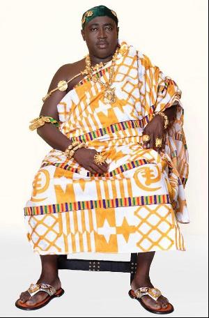 Nana Bediako Brogya Sarpong, the newly enstooled Dompeahene of Agogo Traditional Area