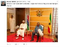 President Adama Barrow on Friday visited President Akufo-Addo