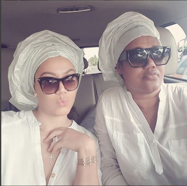 Nadia Buari with mom