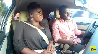 Tracey Boakye with Zionfelix