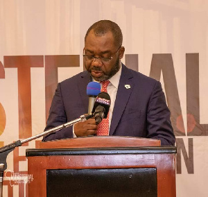 Education Minister, Dr. Matthew Opoku Prempeh speaking at the event