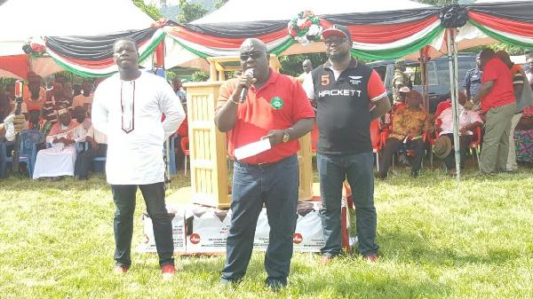 Chief of Staff, Julius Debrah  addressing Volta residents