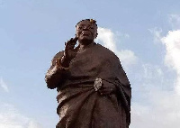 The statue which was unveiled last week at the Kejetia Lorry terminal sparked public displeasure