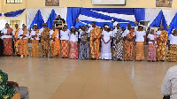 A picture of the 20 new presbyters of the Mount Sinai congregation of the Akosombo E.P church