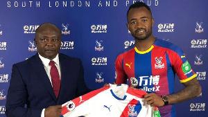 Black Stars striker , Jordan Ayew and his father, Abedi Pele