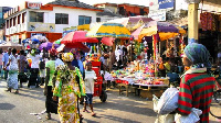 File photo of some Ghanaians at in a market