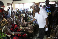 Nana Akufo-Addo interacts with traditional authorities in Abotoase  palace