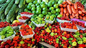 A collection for vegetables