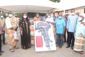 Minister of Fisheries and Aquaculture Development has distributed 200 outboard motors to fishers