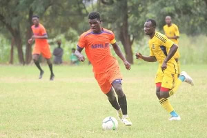 Godfred Quaye in action