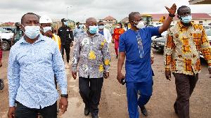 Kwaku Agyeman-Manu visited the site of Ghana