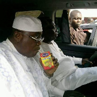 File photo of Akufo-Addo sipping Kalypo