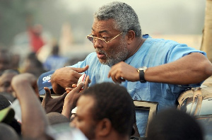 Rawlings With Supporters