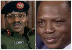 President Muhammadu Buhari and Umaru Dikko