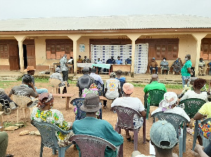 Community members at the social auditing programme