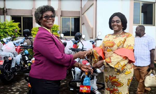 Lawyer Barbara Oteng-Gyasi presented the items over the weekend in Prestea