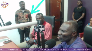 Mr Beautiful was with Prophet Badu Kobi at studio of Starr FM