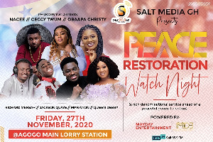 The maiden edition of Peace Restoration Watch Night will be held on Friday 27 November 2020