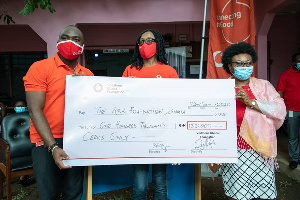Vodafone employees raise GHS100, 000 to support domestic abuse survivors