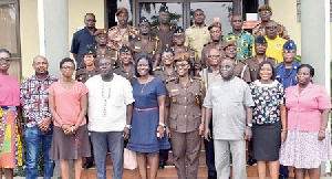 Prison Service commanders and other stakeholders at the 2017 National Advocacy Session