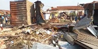 Over 100 metal container shops have been demolished in Kumasi