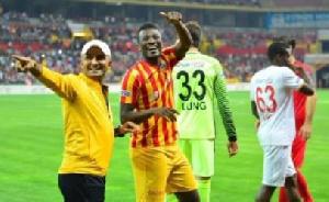 Gyan has left the Turkish club