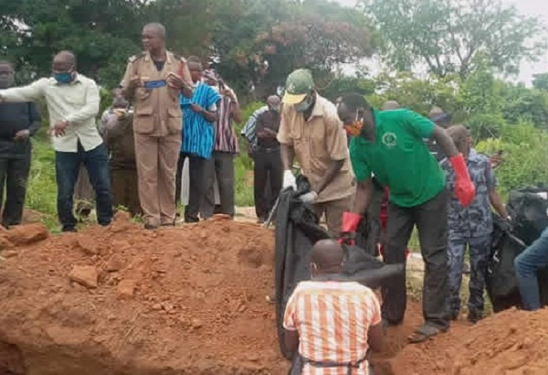 Mass burial held for charred bodies of Kintampo accident victims