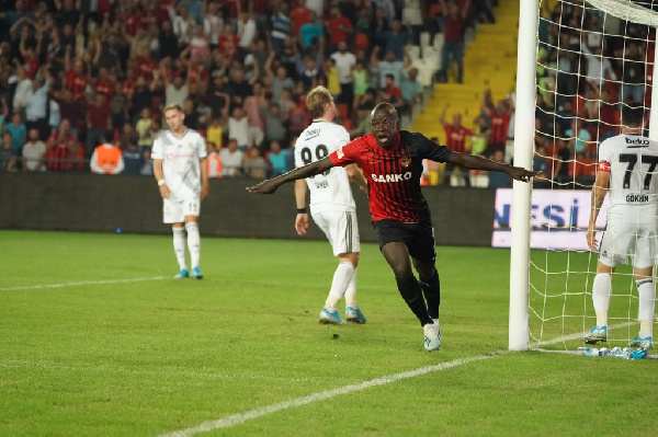 Raman Chibsah netted a goal as his team beat Besiktas 3-2 in the Turkish Super Lig