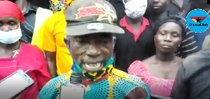Residents of 'Abrokyire Krobo' expressing anger towards the destruction of their forest