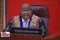Speaker of Parliament, Professor Mike Aaron Ocquaye